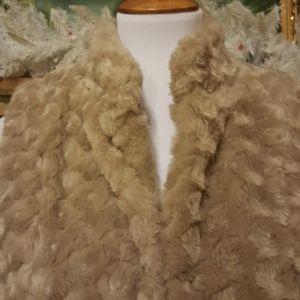 Elle Jackets & Coats - ELLE Tan Brown Textured Vest